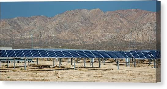Solar Farms Canvas Print - Solar Farm by Jim West/science Photo Library