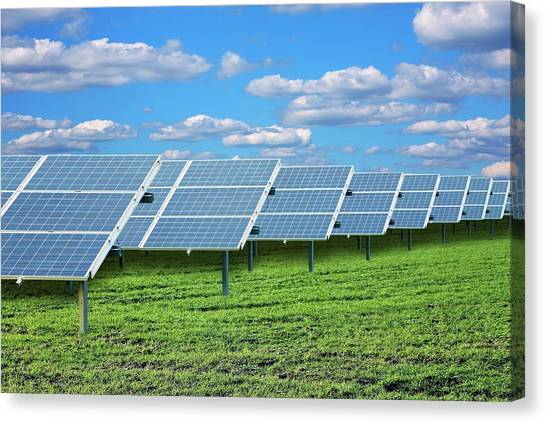 Solar Farms Canvas Print - Solar Farm by Victor De Schwanberg