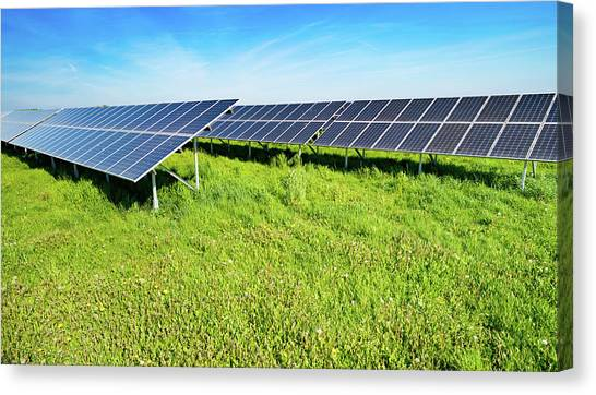 Solar Farms Canvas Print - Solar Farm by Wladimir Bulgar/science Photo Library