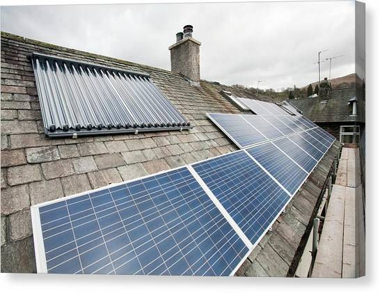 Clean Energy Canvas Print - Solar Panel by Ashley Cooper