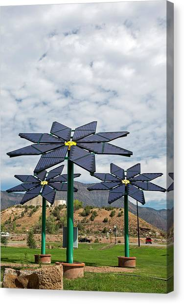 Solar Farms Canvas Print - Solar Panel Flowers by Jim West