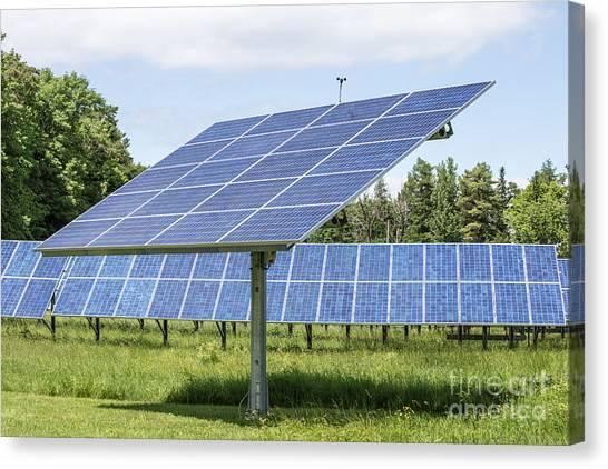 Solar Farms Canvas Print - Solar Panels by Edward Fielding