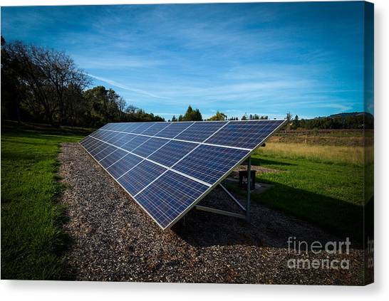 Solar Panels Mendocino County Canvas Print