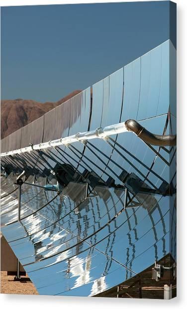 Clean Energy Canvas Print - Solar Power Plant by Jim West