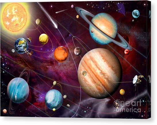 Uranus Canvas Print - Solar System 2 by Garry Walton