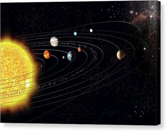 Uranus Canvas Print - Solar System by Claus Lunau/science Photo Library