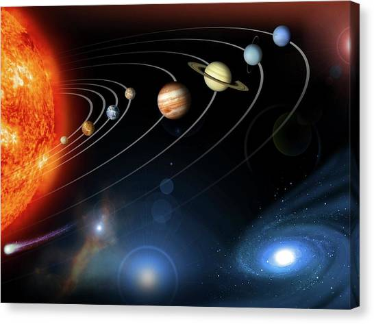 Saturn Canvas Print - Solar System Planets by Nasajpl
