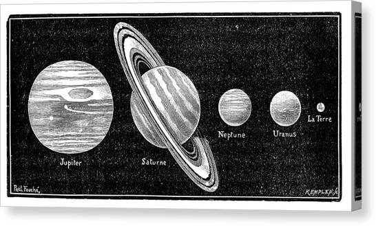 Neptune Canvas Print - Solar System's Outer Planets by Science Photo Library