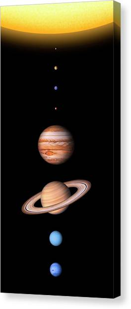 Uranus Canvas Print - Solar System's Planets by Lynette Cook/science Photo Library