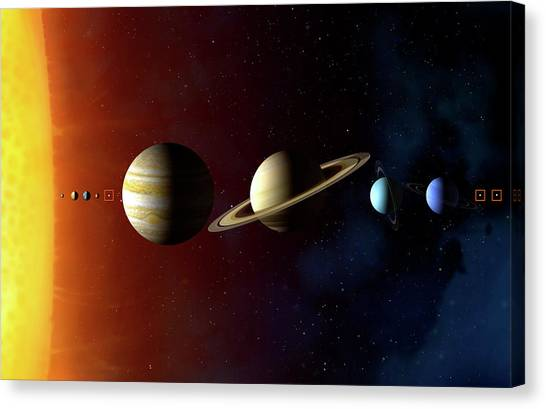 Neptune Canvas Print - Solar System's Planets by Mark Garlick/science Photo Library