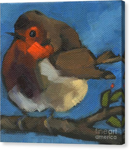 Sold - Rock'n Baby Robin Canvas Print