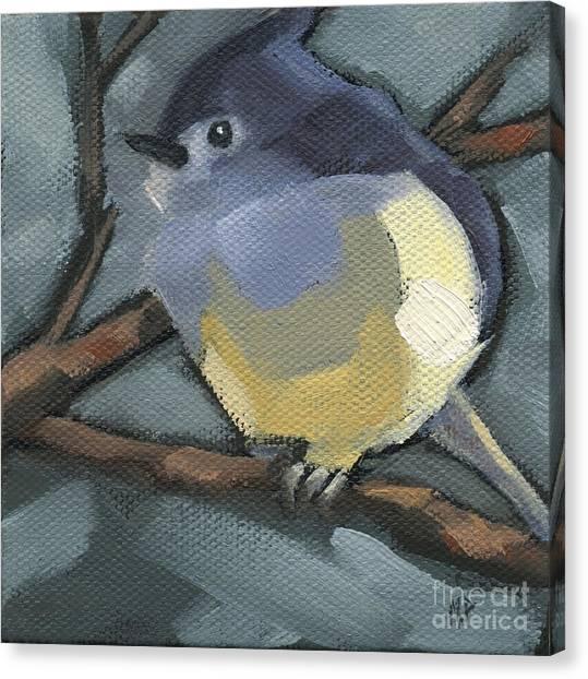Sold Titmouse Camo Canvas Print
