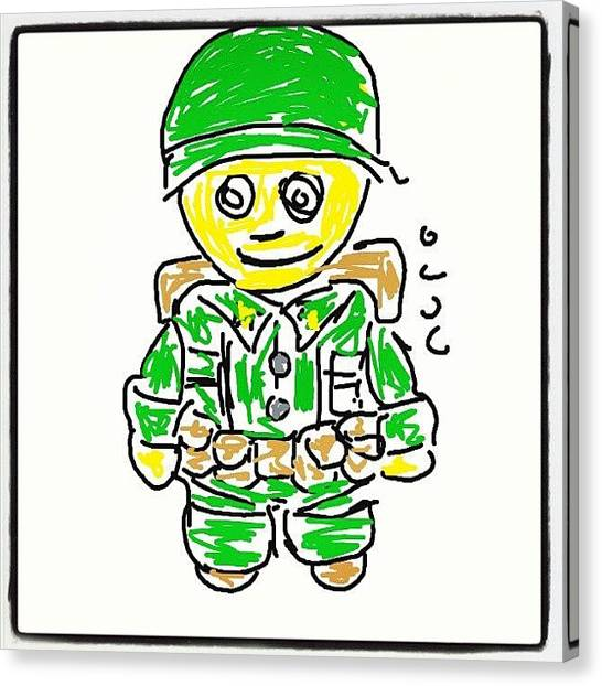 Soldiers Canvas Print - #soldier #cartoon #caricatures #sketch by Nuno Marques