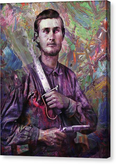 Old Canvas Print - Soldier Fellow 1 by James W Johnson