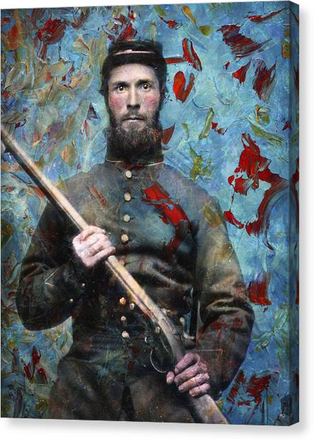 History Canvas Print - Soldier Fellow 2 by James W Johnson