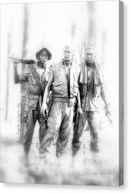 Soldiers Never Forgotten Canvas Print