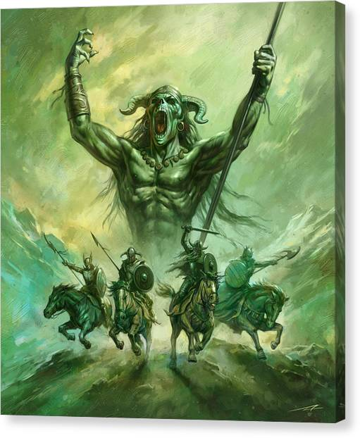 World Of Warcraft Canvas Print - Soldiers Of Doom by Alan Lathwell