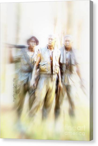 Soldiers On The Lookout Canvas Print