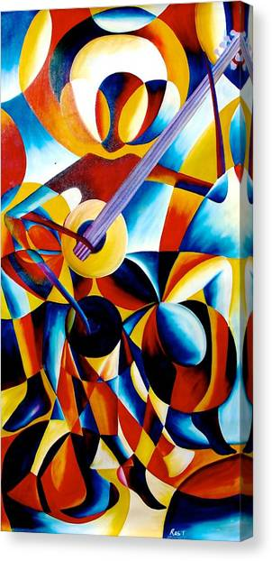 Sole Musician Canvas Print