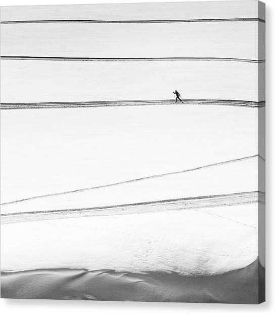 Solitary . . Canvas Print by Matej Rumansky