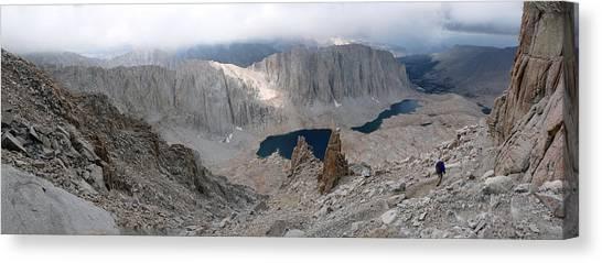 Solitary Hiker Panorama Canvas Print