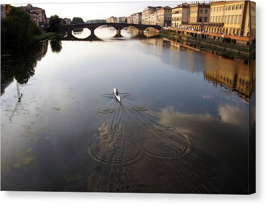 Solitary Sculler Canvas Print