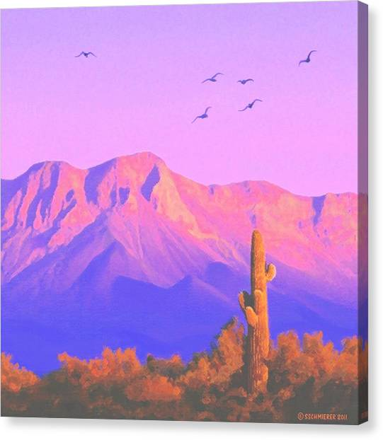 Solitary Silent Sentinel Canvas Print