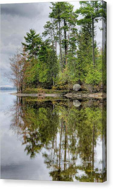Rights Managed Images Canvas Print - Solitude At Pinheys Point Ontario by Rob Huntley