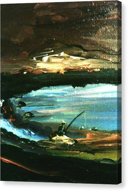 Canvas Print featuring the painting Solitude by Ray Khalife