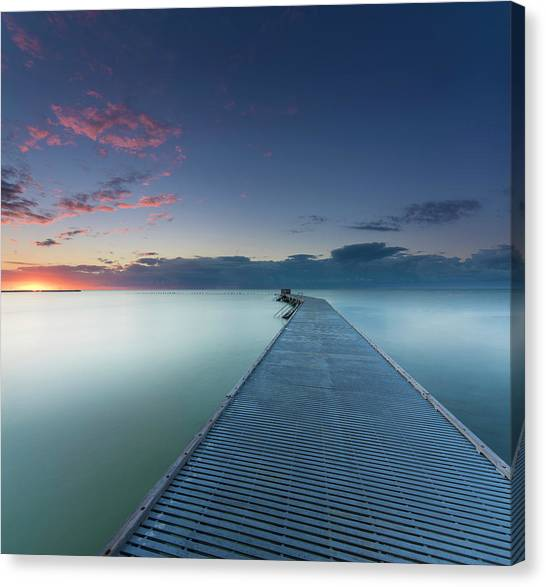 Pier Canvas Print - Solitude3 by Alexandru Popovski