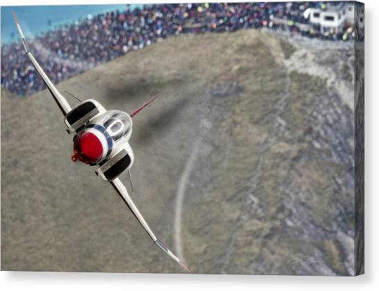 Sidewinders Canvas Print - Thunder Over The Crowd by Peter Chilelli