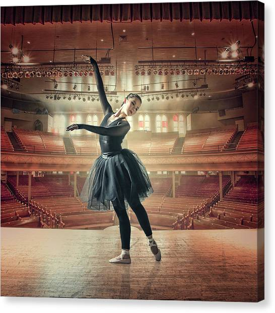 Toes Canvas Print - Solodance by Rudy Sunandar