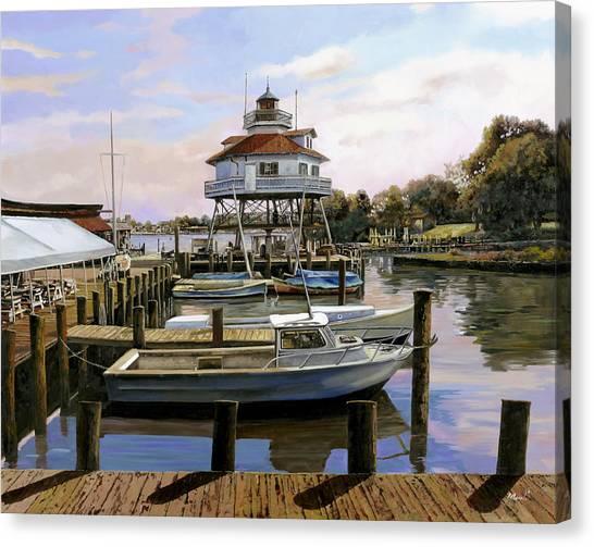 Baltimore Maryland Canvas Print - Solomon's Island by Guido Borelli
