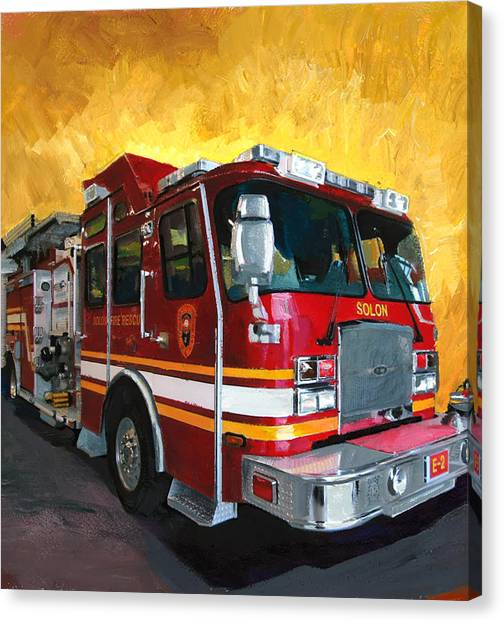 Solon Fire Engine Canvas Print