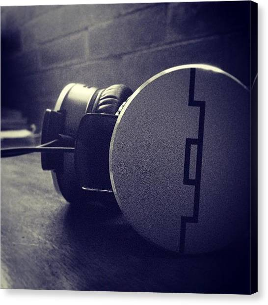 Headphones Canvas Print - #solrepublic by Ram Cartney Cortez