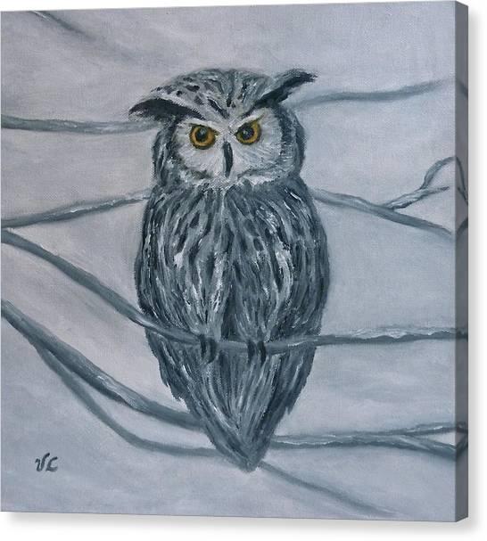 Solstice Owl Canvas Print
