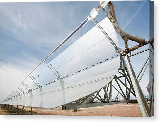 Clean Energy Canvas Print - Solucar Solar Complex by Ashley Cooper
