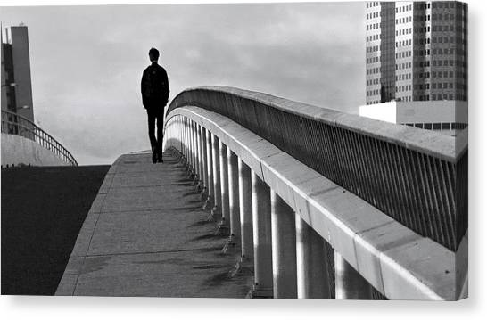 Somber Stroll Canvas Print