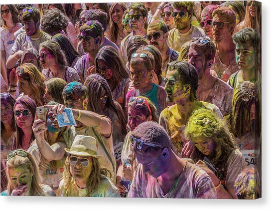 Rainbow Canvas Print - Some Colorful People by Erhan Durceylan