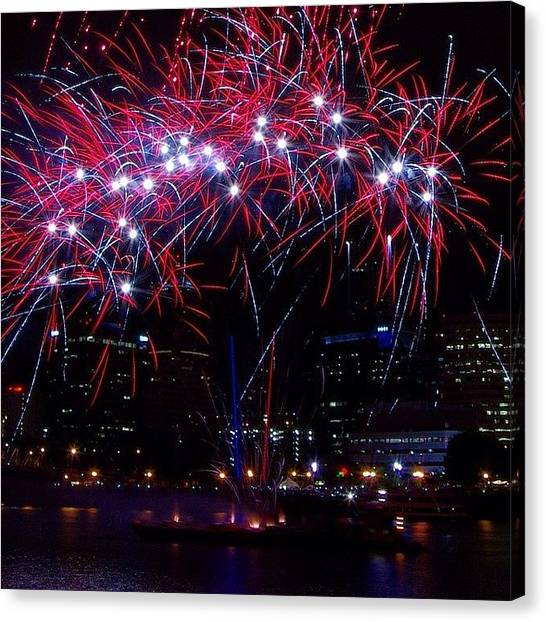 Fireworks Canvas Print - Some More Cool Fireworks From The Rose by Mike Warner