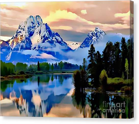 Some Place Some Where Canvas Print