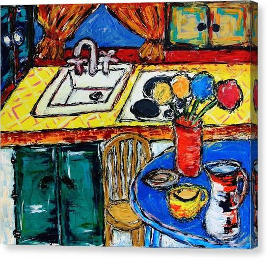 Somebody Else''s Kitchen Canvas Print