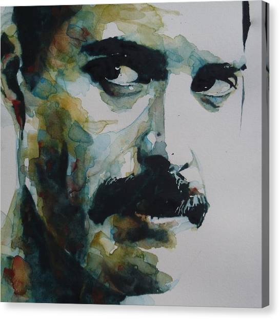 Queens Canvas Print - Freddie Mercury by Paul Lovering