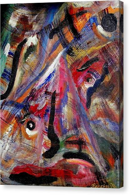 Canvas Print featuring the painting Someone Is Always Watching by Ray Khalife