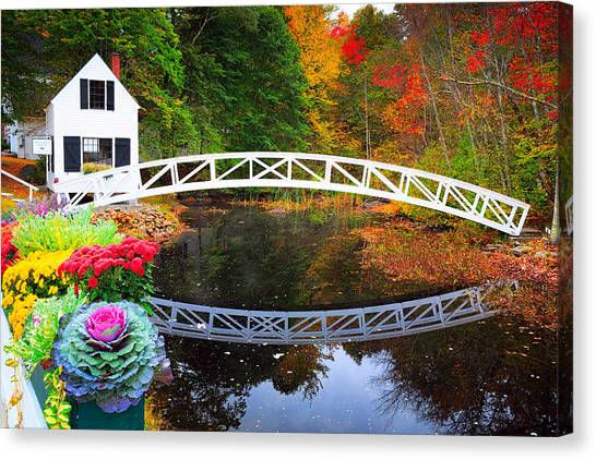 Jordan Canvas Print - Somersville Bridge by Emmanuel Panagiotakis