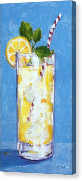 Something Cool To Drink Canvas Print by Kelley Smith