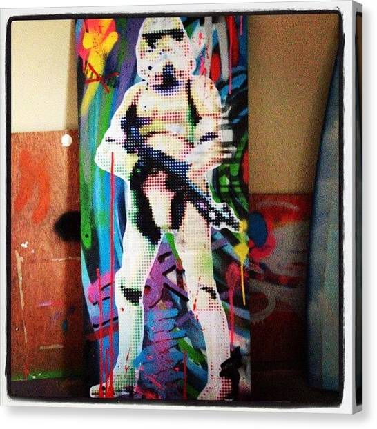 Stormtrooper Canvas Print - Something Different. #stormtrooper by Gavin Mccrea
