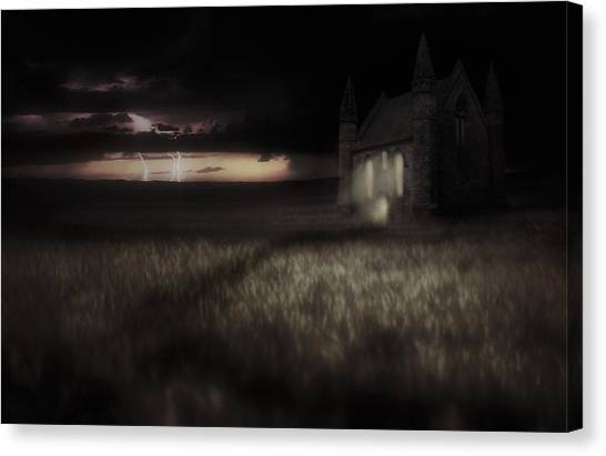 Something Wicked - Lightning - Chapel - Gothic Canvas Print