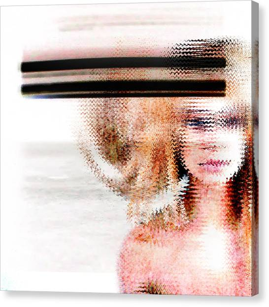 Abstract Nude Canvas Print - Sometimes I ... by PandaGunda