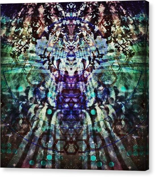 Symmetrical Canvas Print - Sometimes I Feel Like I'm Dreaming by Jeddadiah Aiono
